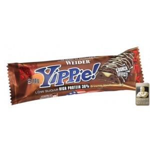 WEIDER - Yippie barretta 45 gr. brownie vanilla