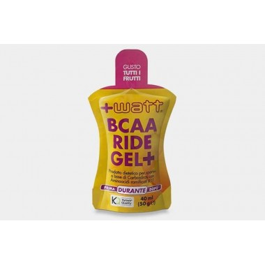 + Watt - BCAA Ride gel 40 ml. tutti frutti
